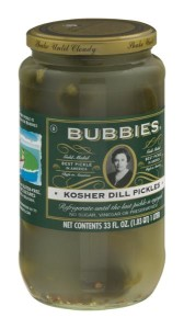 Jar of Bubbies brand pickles